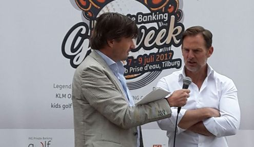 Rober Jan Derksen interviewt Ronald de Boer over de ING Golfweek